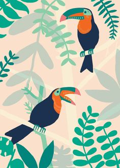 All prints sold in my etsy shop this month will come with an A5 print of my toucan design!