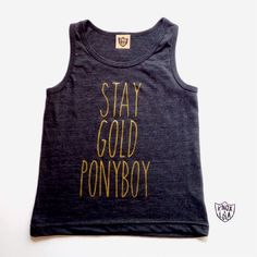 Stay Gold Pony Boy Tank