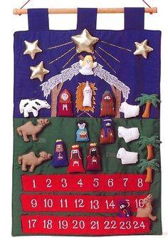 nativity set advent calendar...make this