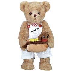 "NEW Harvey And Hot Doggie 14"" Teddy Bear Plush From The Bearington Collection"