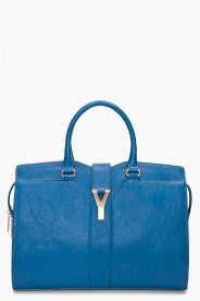 YVES SAINT-LAURENT //  CHINESE BLUE CHYC EAST/WEST BAG