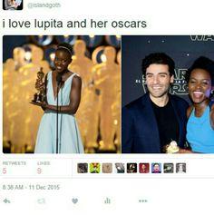She looks like she loves her Oscars, too.