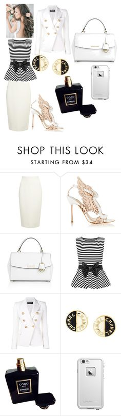 """""""D$"""" by kivericdamira ❤ liked on Polyvore featuring Donna Karan, Sophia Webster, Michael Kors, WearAll, Balmain, Chanel and LifeProof"""