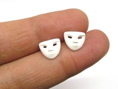 A opera mask mini earrings A cartilage/tragus ring by artstudio88