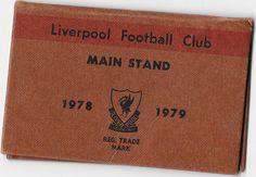 Liverpool Football Club Main Stand Season Ticket 1978-79 | eBay