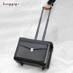 "110.50$  Buy here - http://alizr0.worldwells.pw/go.php?t=32727901734 - ""20""""inch cabin Luggage, Flight attendants Box,Commercial PU computer Bag,Unisex Password suitcases,Boarding Rolling Travel Case"" 110.50$"