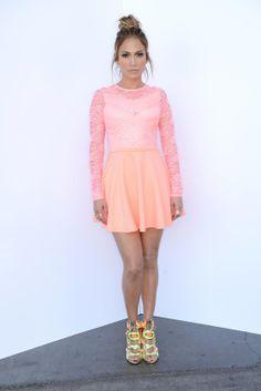 Jennifer Lopez, à la soirée des quarts de final du show American Idol