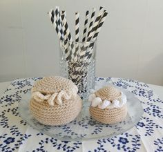 Free mouse-crochet pattern (Swedish) and others Crochet Food, Some Ideas, Baby Toys, Nerdy, Crochet Patterns, Diy Crafts, Knitting, Free, Inspiration