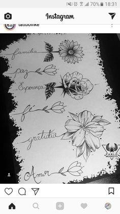 Flowers flower Tattoo tattoostencil stencil outlines marker fineliner Blackink i. Mini Tattoos, Flower Tattoos, Body Art Tattoos, Small Tattoos, Flower Outline Tattoo, Daisies Tattoo, Tattoo Ink, Pretty Tattoos, Beautiful Tattoos