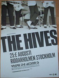 Love the Hives! Only group still making great music out of the 3 groups at the time. (The Strokes, White Stripes & The Hives) Rock Posters, Band Posters, Concert Posters, Music Posters, Film Posters, Comic Poster, Gig Poster, Destiny Poster, Online Posters