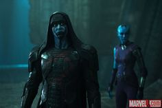 Ronan (Lee Pace) and Nebula (Karen Gillan) in Marvel's Guardians of the Galaxy. Get tickets now: http://fandan.co/1thBrQi