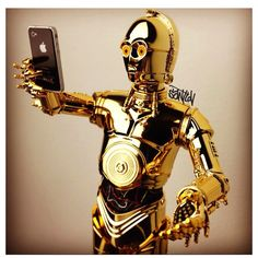 """Old Friends, Siri and C-3PO, who is fluent in """"over six million forms of communication"""""""