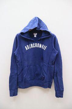 Vintage ABERCROMBIE Blue Hoodies Sweater Sweatshirt Size S