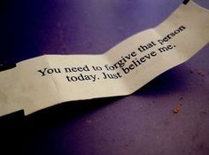 I remember the day I got this fortune!