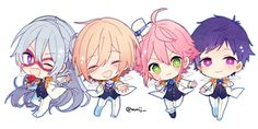 Anime Chibi, Kawaii Anime, Star Character, Clear Card, Comic Games, Cute Chibi, Ensemble Stars, Illustrations And Posters, Amazing Art