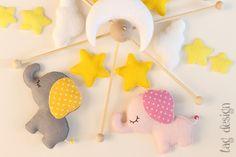 """Mobile """"Elefanten"""" von Tag Design auf DaWanda.com"""