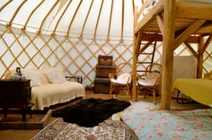 The New Inn at Brilley, Herefordshire - Fresh spring yurt