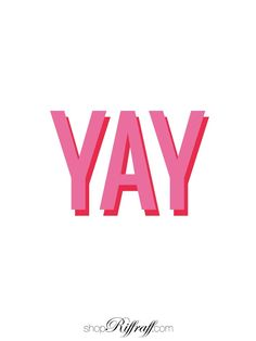YAY! print // background