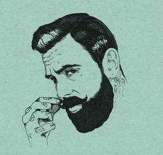 Illustration by Nietz #illustration #beard