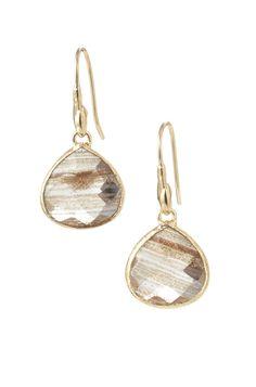 Aqua or Lapis & 12 k Gold Drop Earrings | Serenity Small Stone Drops | Stella & Dot