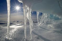 Image: Icicles melting in the Arctic midnight sun, Baffin Bay, Canada. (© Louise Murray/Getty Images)