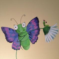 Nursery bug wall mural