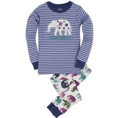 Hatley Girl's Pyjamas (PJs) 'Unforgettable' Elephants .