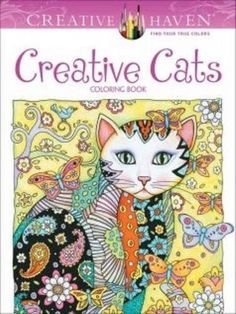 64 Books Coloring For Adults Cats Beautiful Creative Art Relieve Stress Therapy #Dover