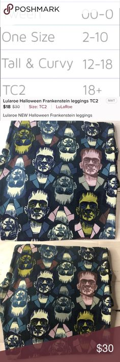 Lularoe Halloween Frankenstein Leggings TC2 NEW Lularoe Frankenstein leggings! LuLaRoe Pants Leggings