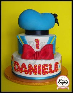 Cake Donald Duck Just the middle tier for Adrain's cake