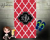 Personalized Beach Towel, Monogrammed Towel, Custom Towel, Design Your Own!