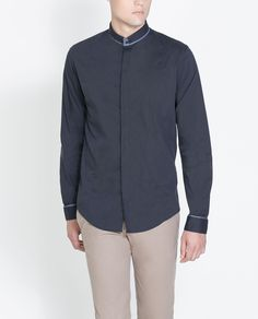 CAMISA ELÁSTICA MIL RAYAS - Camisas - Hombre | ZARA España Muslim Fashion, Mens Fashion, Fashion Outfits, Tailored Shirts, Casual Shirts, Mens Designer Shirts, Camisa Polo, Zara Man, Stylish Men