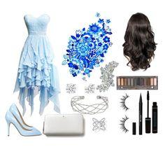 """The blue dress"" by sarah-mathews-1 on Polyvore featuring Semilla, Wallis, Stila, Urban Decay and Kate Spade"