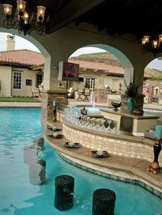 Schon Erstaunliche Pool Mit Gemütlicher Bar Für Entertainment Funktionen  #Badezimmer #Büromöbel #Couchtisch #Deko