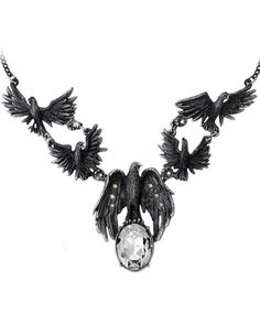 Alchemy Gothic | A Murder of Crows Necklace - Tragic Beautiful buy online from Australia