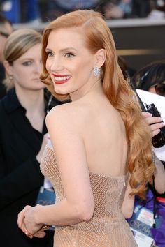 Al detalle todas las joyas sobre la alfombra roja de los Oscar 2013: Jessica Chastain con joyas de Harry Winston
