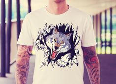 Wolf T Shirt, High Quality T Shirts, Your Style, In This Moment, Hoodies, Mens Tops, Stuff To Buy, Color, Fashion