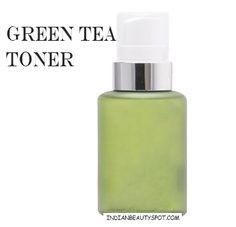 DIY Green tea toner made with melaleuca (tea tree) essential oil
