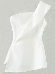 Shop White Zipper Bandeau One Shoulder Top online. SheIn offers White Zipper Bandeau One Shoulder Top & more to fit your fashionable needs.