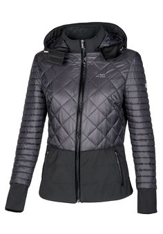 a14c8515a6 Giudy woman hooded quilted jacket Warm and light quilted nylon jacket in  solid color with match