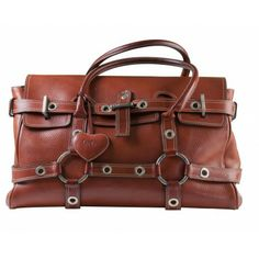 Luella Bartley Red Leather Gisele Satchel Bag