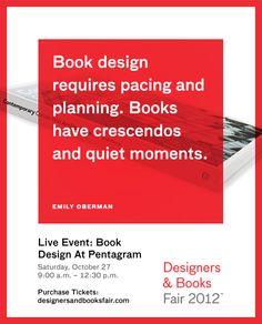 Book Design at @Pentagram Design http://bookfair.designersandbooks.com/program/book-design-at-pentagram/
