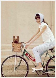 Audrey Hepburn with Mr. Famous