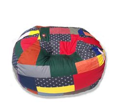 One only! Family sized cotton patchwork beanbag