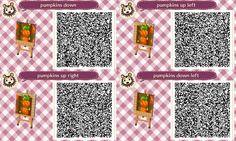 Animal Crossing QR Code blog Pumpkin Path? :) Lower Side Straight, Upper Left Corner, Upper Right Corner, and Lower Left Corner Set#2<---Can be used Garden, Harvest moon Theme ect..