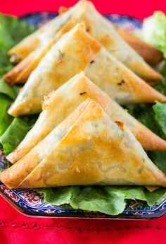 Learn how to make Baked Spinach and Cheese Samosa with an easy to follow video tutorial. A delicious snack that's perfect as an appetizer for parties!