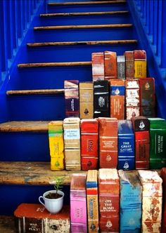 cool! bricks painted like books to use inside or out!