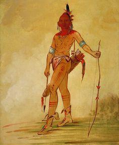 George Catlin Prints | Cáh-he-ga-shín-ga, Little Chief by George Catlin