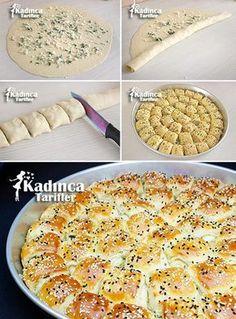 Peynirli Yumuşak Rulo Poğaça Tarifi