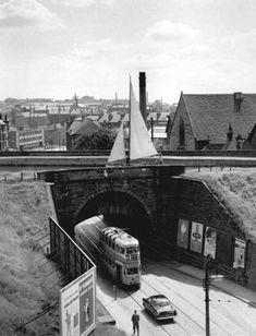 A tram passes under a canal bridge Glasgow Scotland, Scotland Travel, Scotland Trip, Cuba, Glasgow City, The Second City, Ways To Travel, England Uk, Landscape Photos